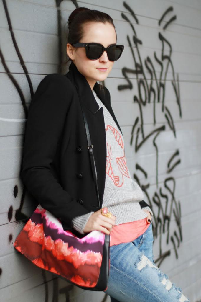5f141b0e38a Jeans  ZARA   Sweater  Bought in Buenos Aires   Blazer  ZARA (old)   Shoes   MANGO   Sunnies  Celine   Bag  ZARA