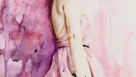 """WATERCOLOR BALLERINA"""