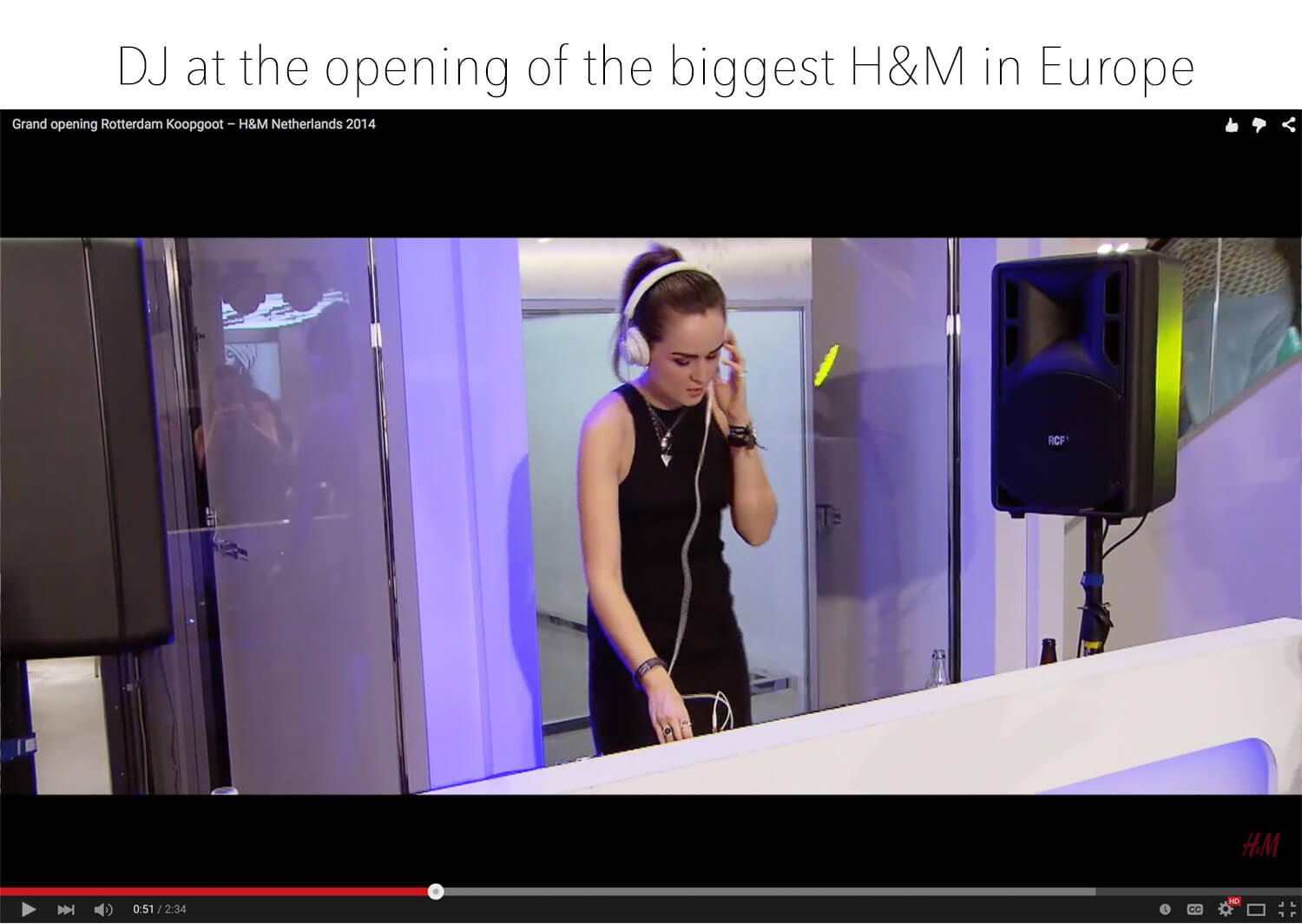 Andy Torres DJ at the biggest H&M opening in Rotterdam