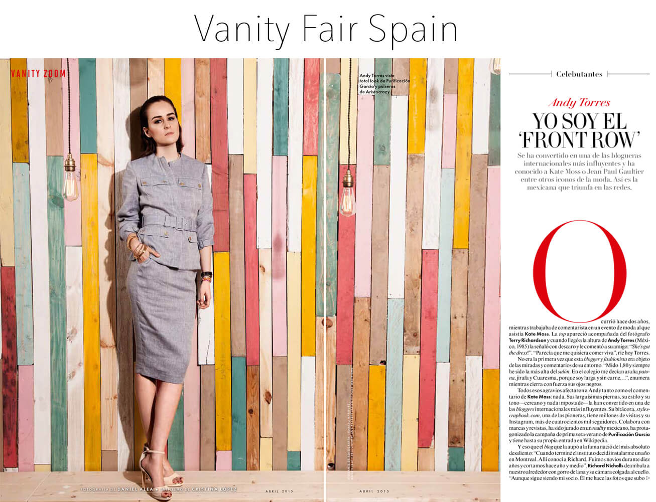 Andy Torres article on Vanity Fair Spain