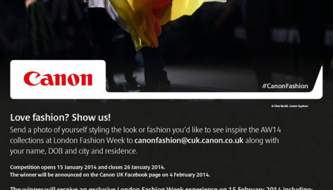 COME TO LFW WITH ME AND CANON