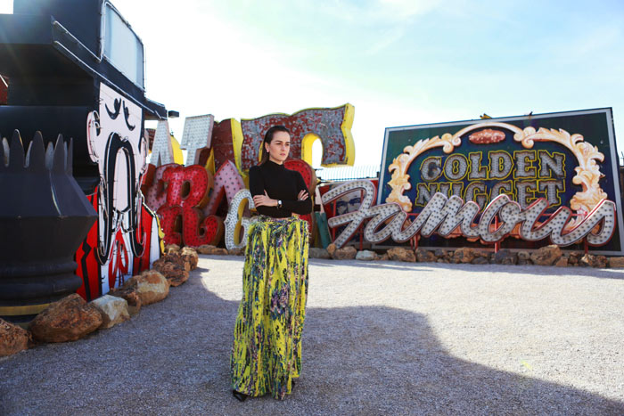 Andy Torres at the Neon Museum in Las Vegas 15
