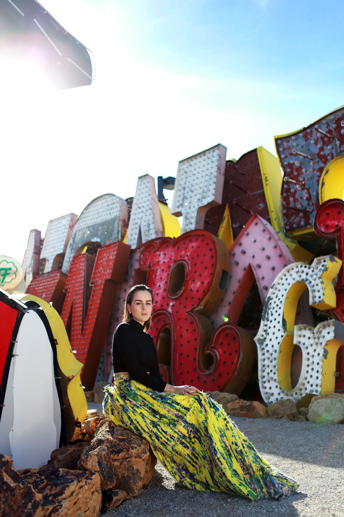 Andy Torres at the Neon Museum in Las Vegas 4