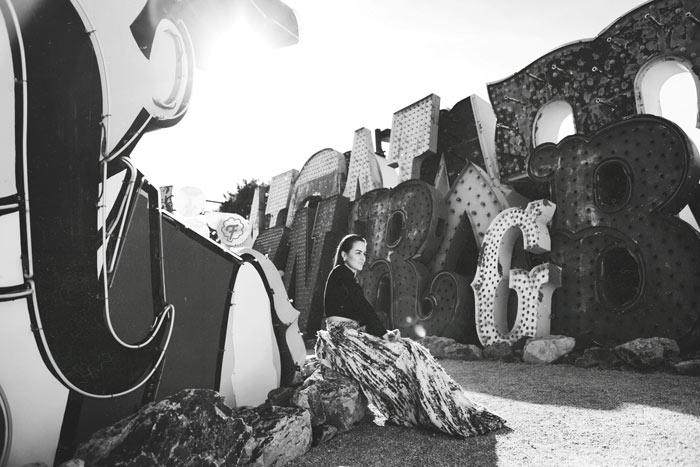 Andy Torres at the Neon Museum in Las Vegas 14