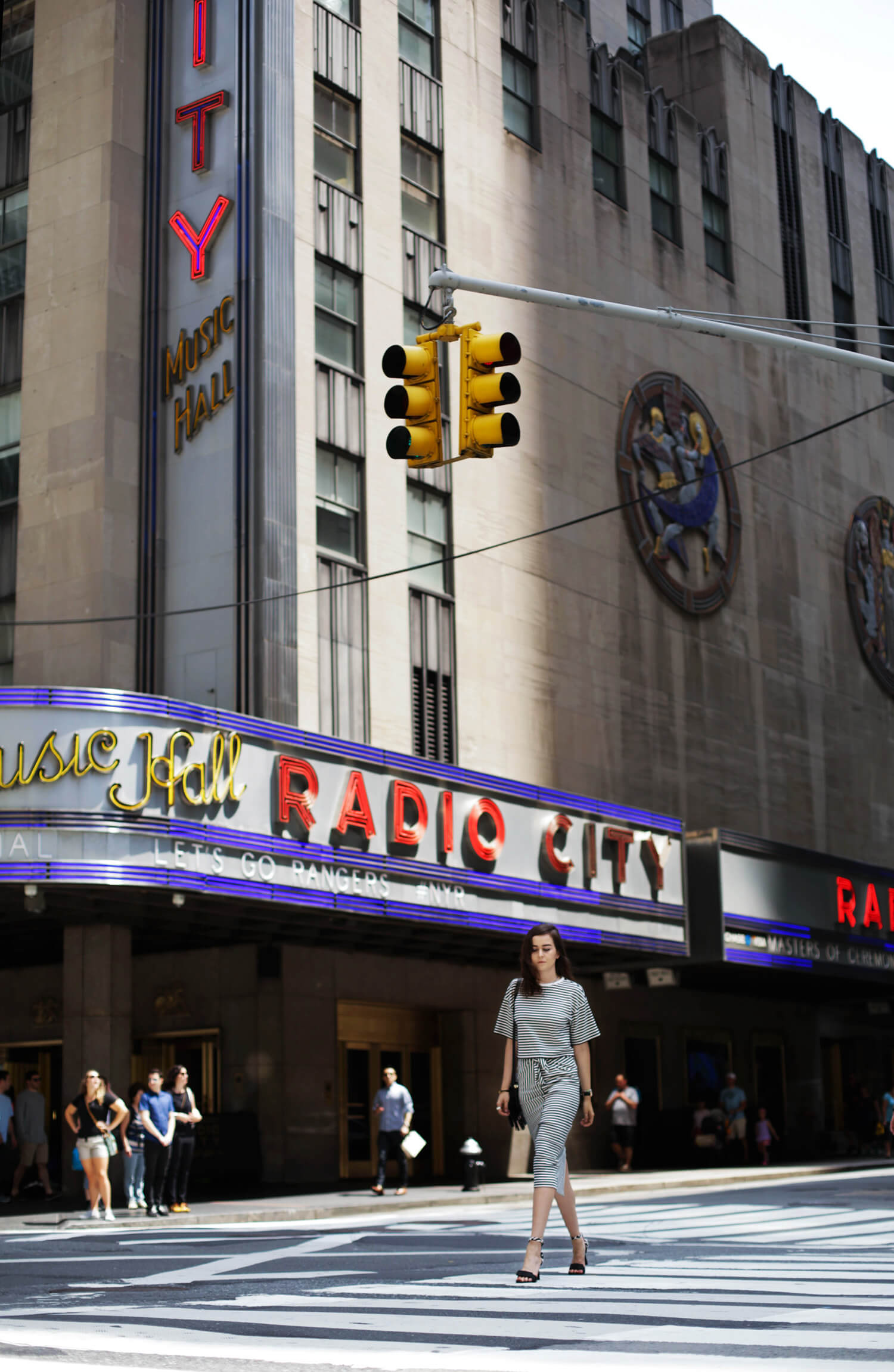 Andy Torres wearing Tibi at the Radio City Music Hall in New York City
